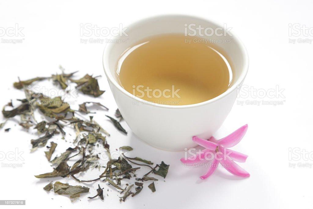 Healthy white tea stock photo