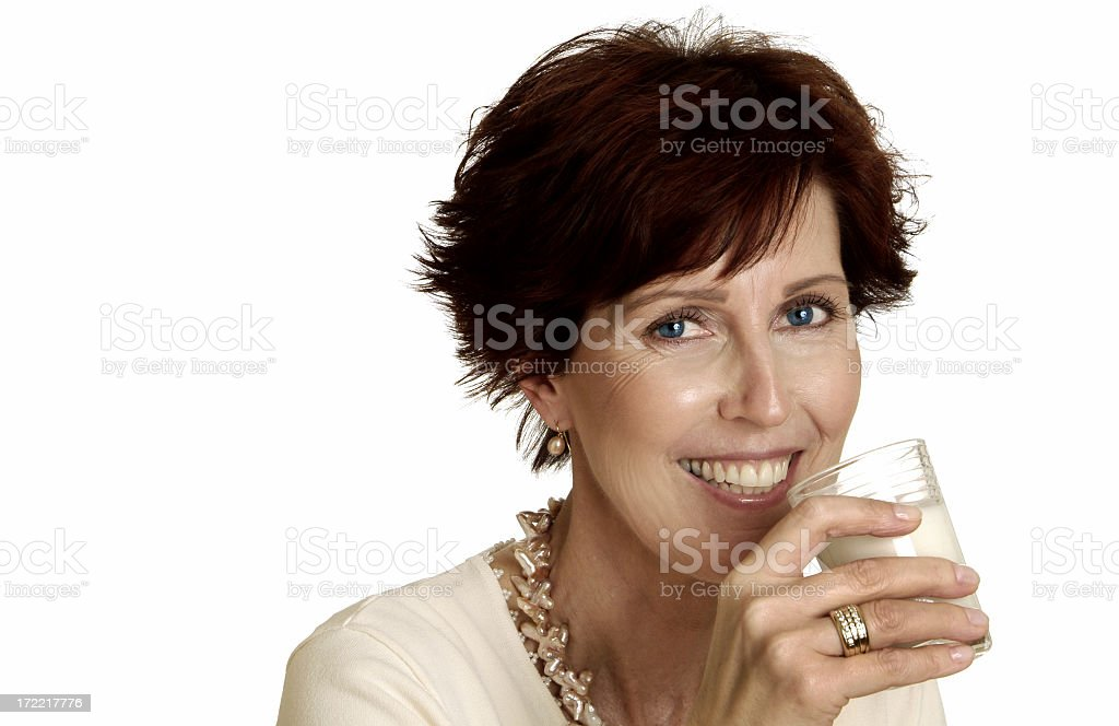 Healthy Woman - Milk royalty-free stock photo