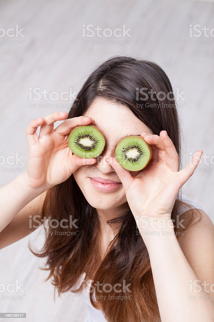 Healthy woman stock photo