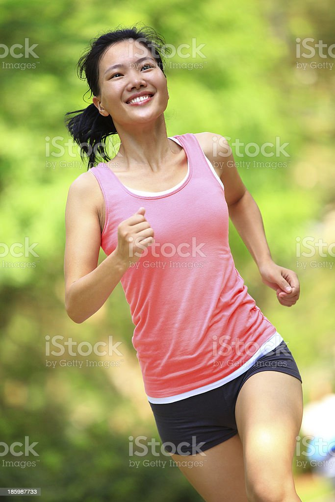 healthy woman running royalty-free stock photo
