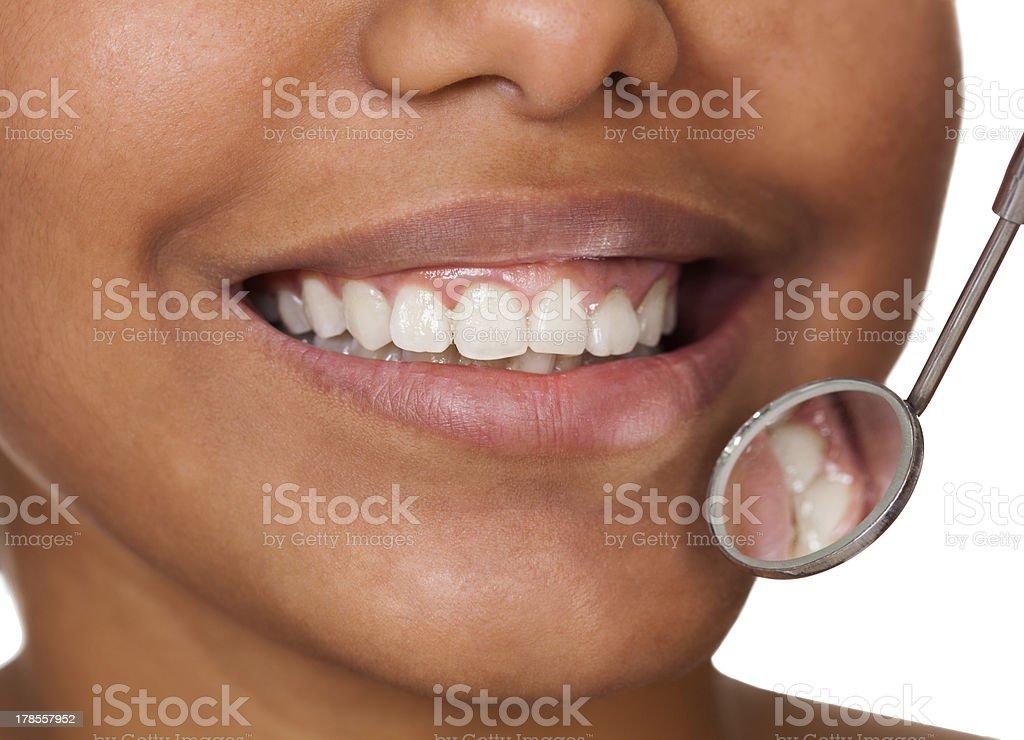 Healthy Woman Teeth stock photo