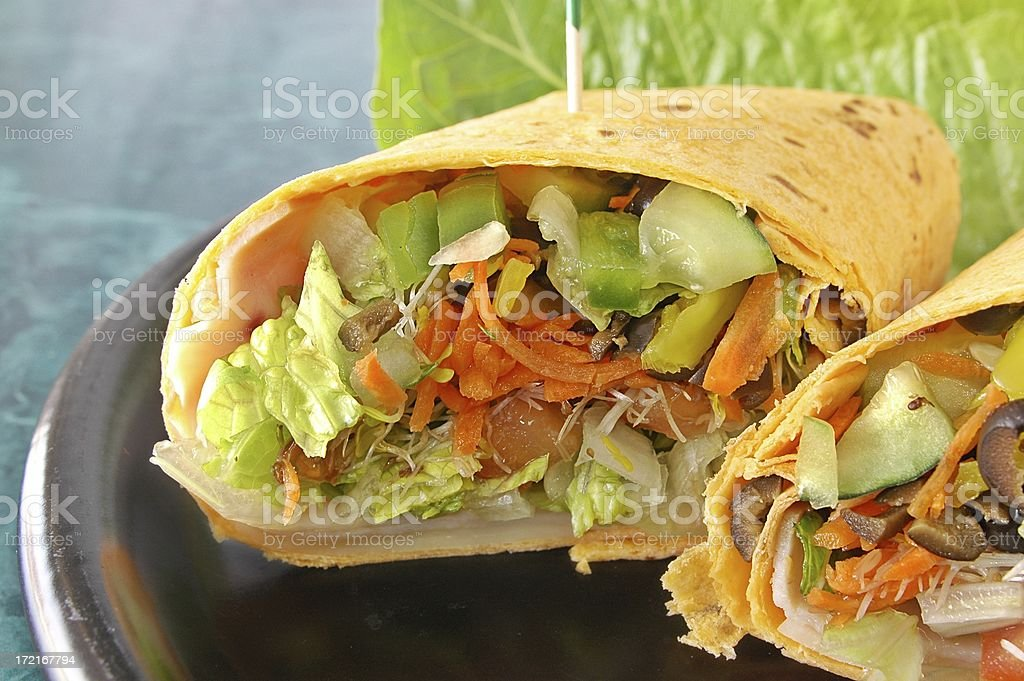 healthy wrap royalty-free stock photo