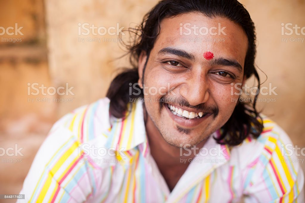 Healthy Young Indian Man stock photo