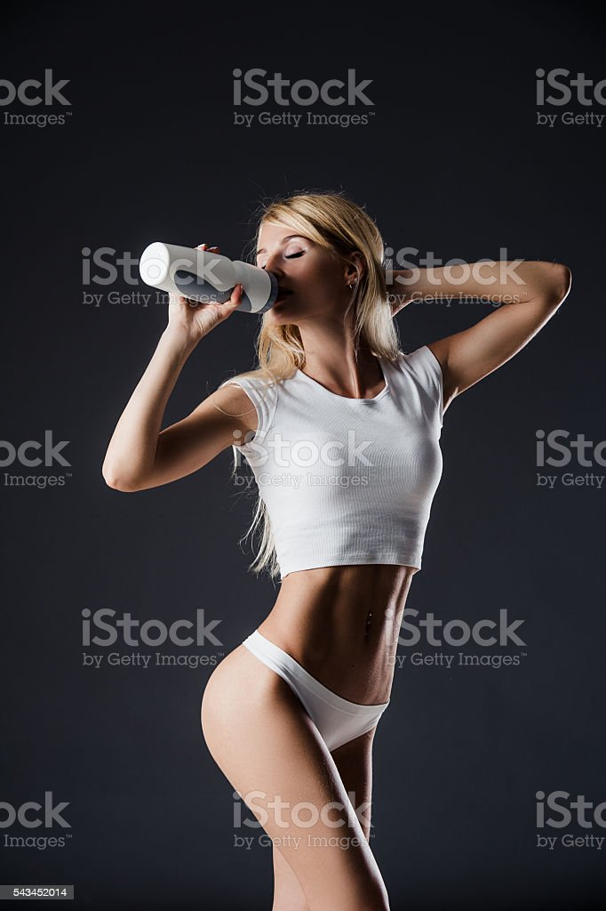 healthy young sexy woman with perfect fitness body and glutes stock photo