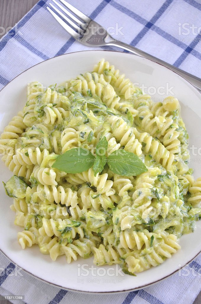Healthy zucchini pasta royalty-free stock photo
