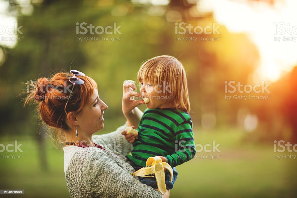 Healty children's snack stock photo