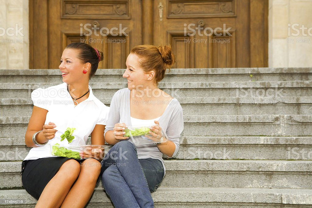 Healty eating at lunch break royalty-free stock photo