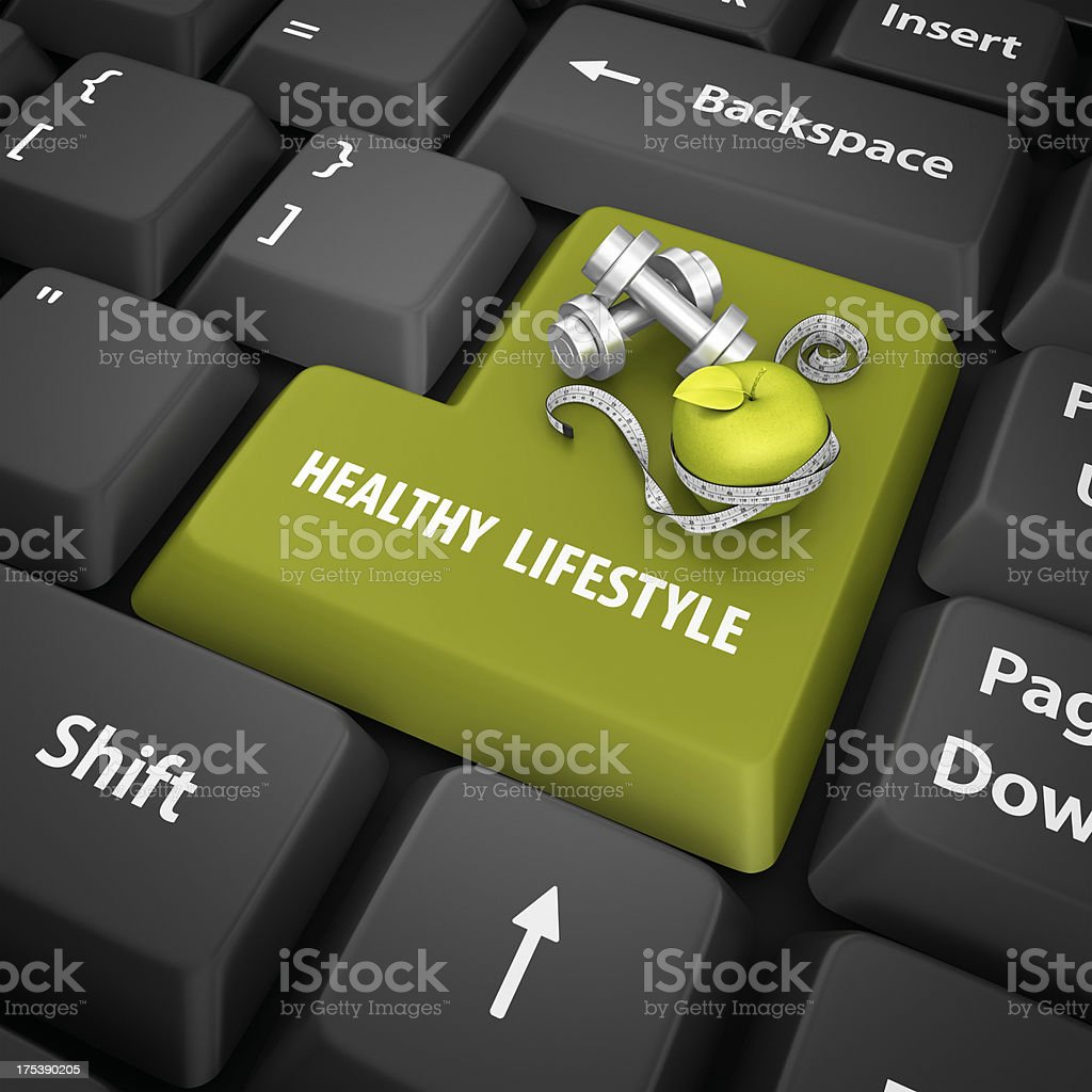 healty lifestyle enter key royalty-free stock photo