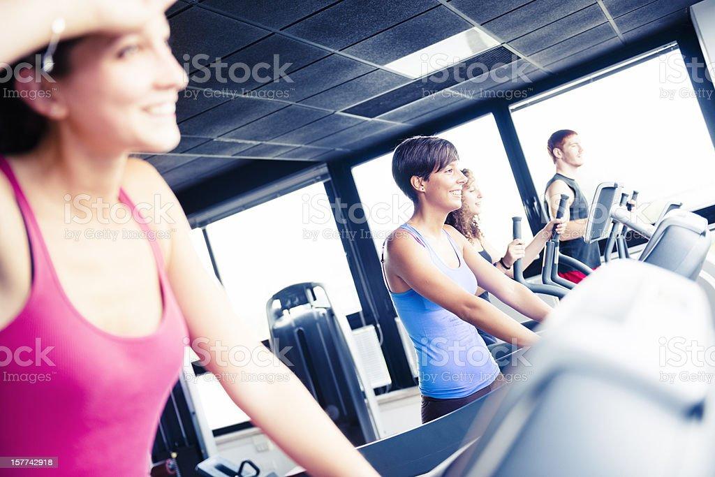 Healty lifestyle running on Treadmill royalty-free stock photo