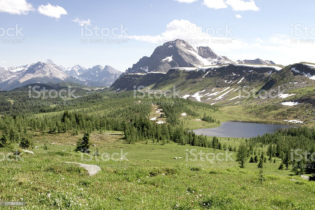 Healy Pass in Banff National Park. stock photo