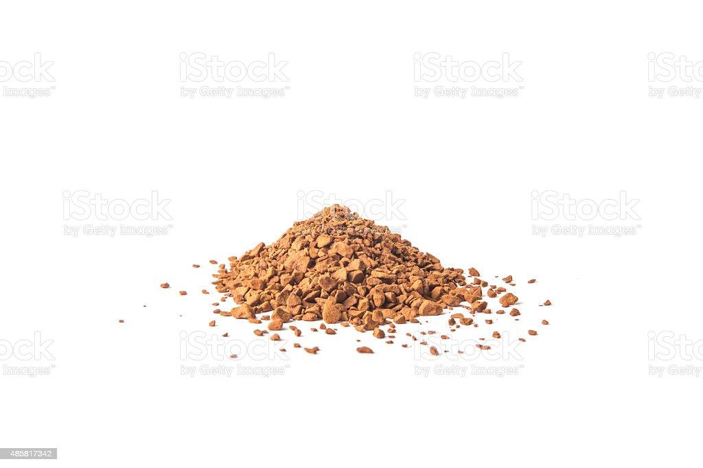 Heap beverage powder stock photo