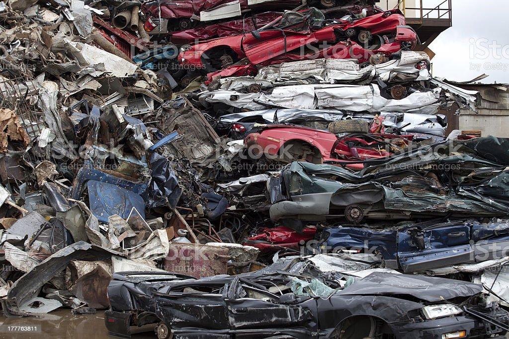 Heap cars royalty-free stock photo