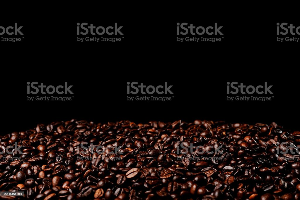 Heap coffee beans. stock photo