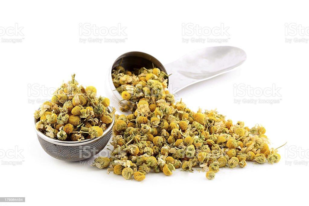 Heap dried chamomile royalty-free stock photo