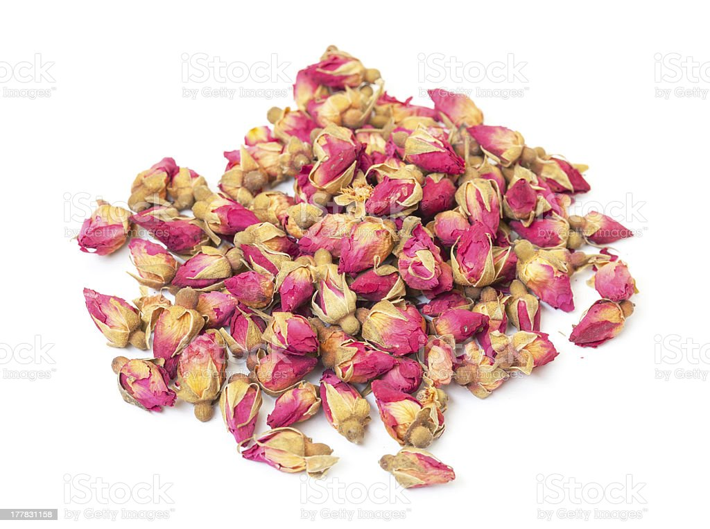 Heap Dried Rosebuds stock photo