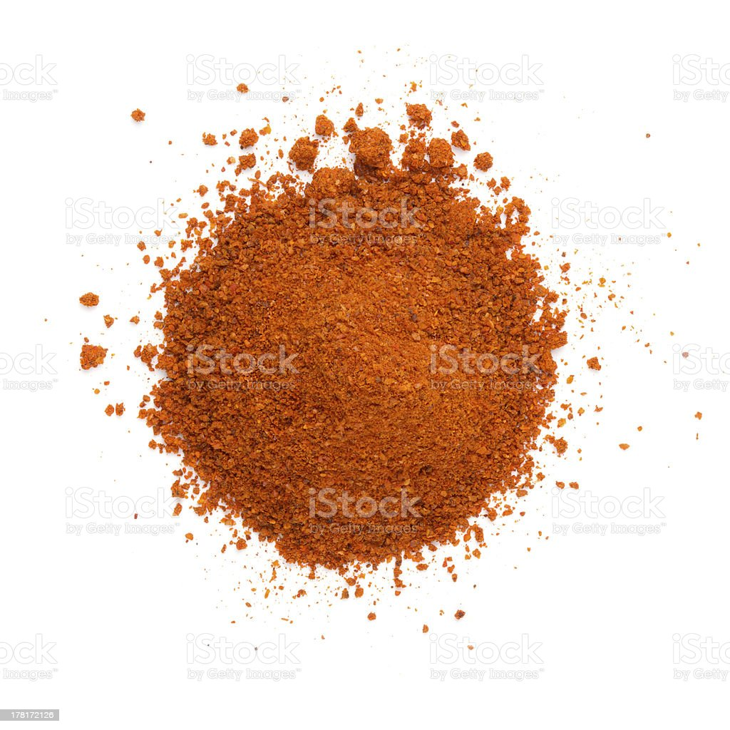 Heap ground paprika isolated on white background stock photo