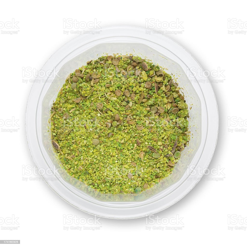 Heap ground Svanuri marili isolated on white background royalty-free stock photo