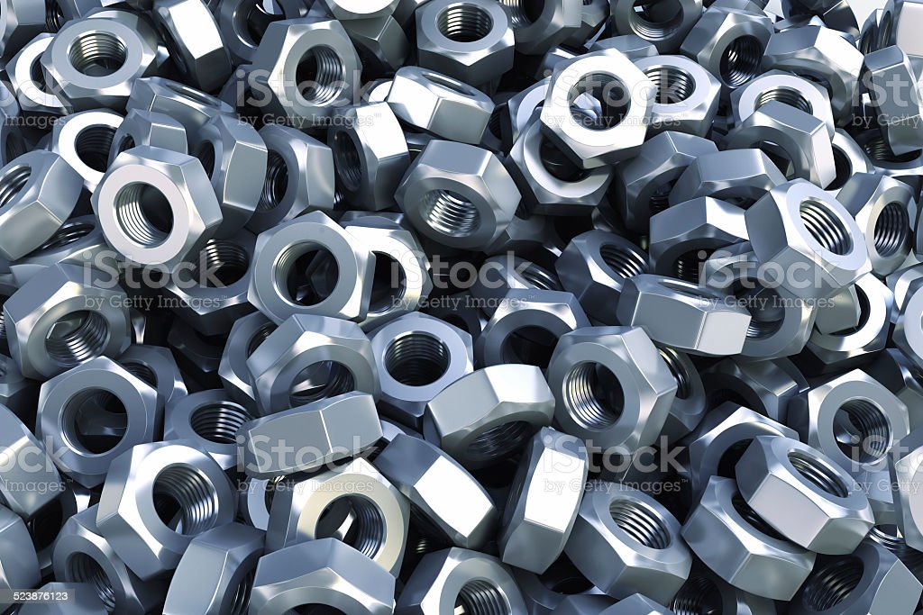 Heap nuts background. stock photo