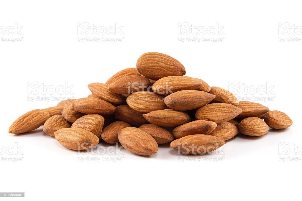 Heap of Almonds stock photo