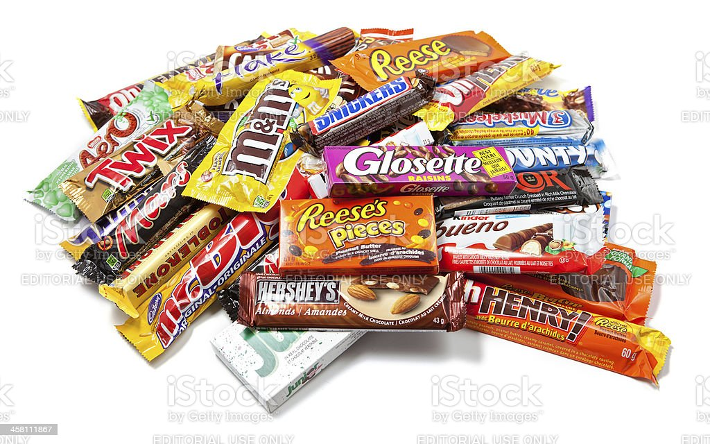 Heap of Assorted Chocolate Products stock photo