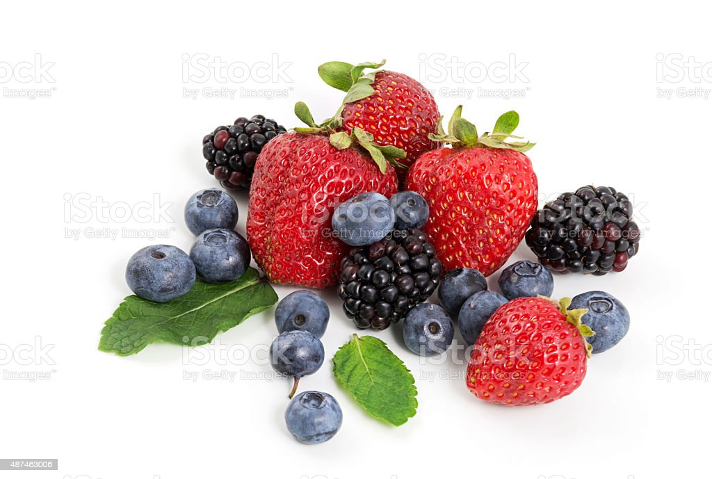 Heap of berries stock photo