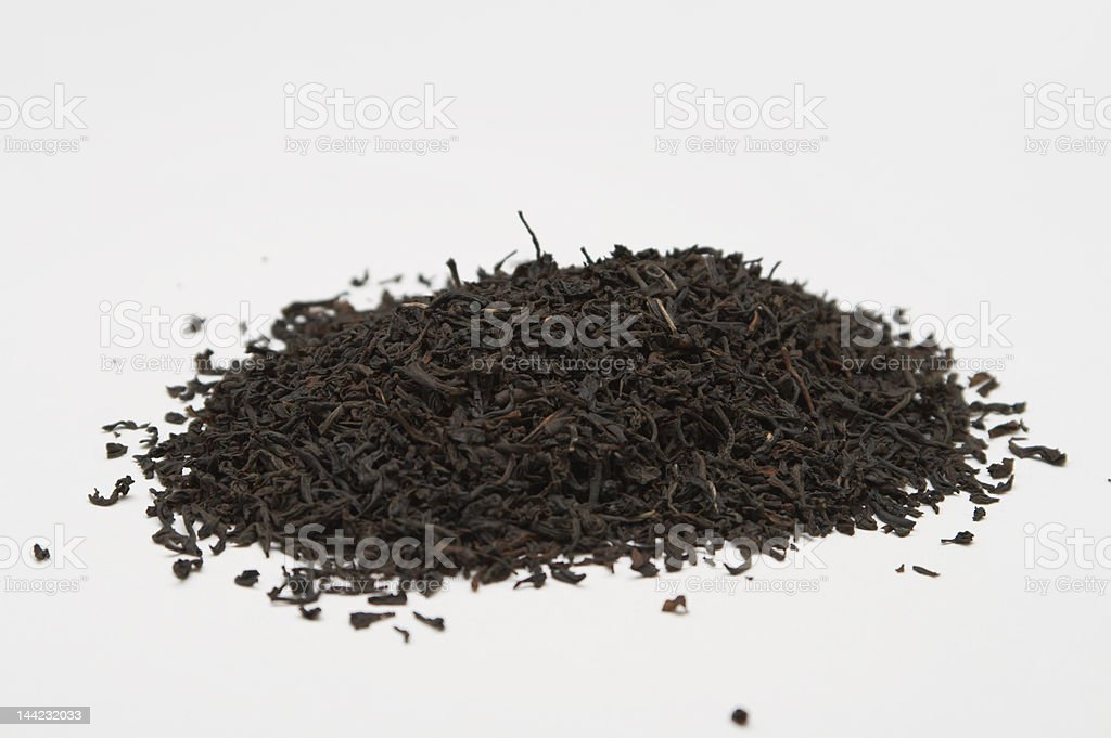 heap of black tea stock photo