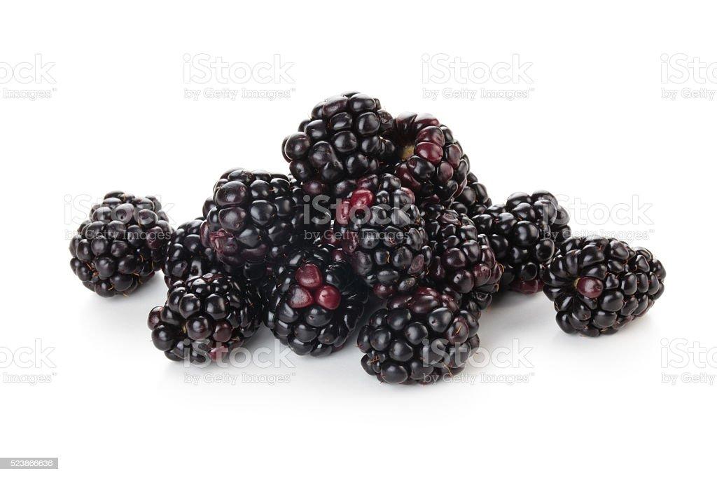 Heap of blackberries. stock photo