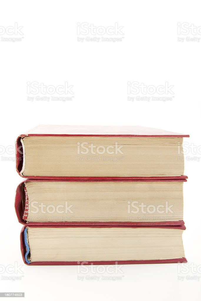 Heap of books isolated on white royalty-free stock photo