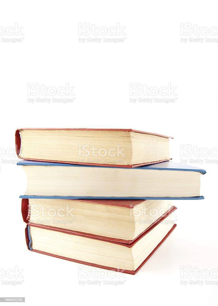 Heap of books on white royalty-free stock photo