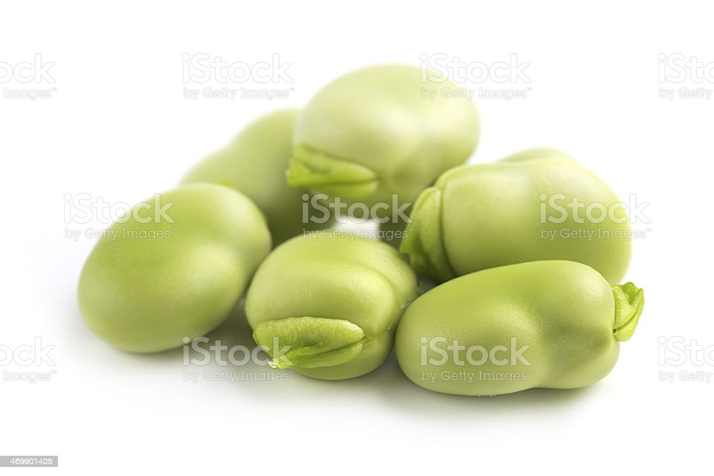 heap of broad beans stock photo