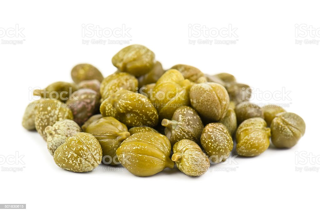 heap of capers stock photo