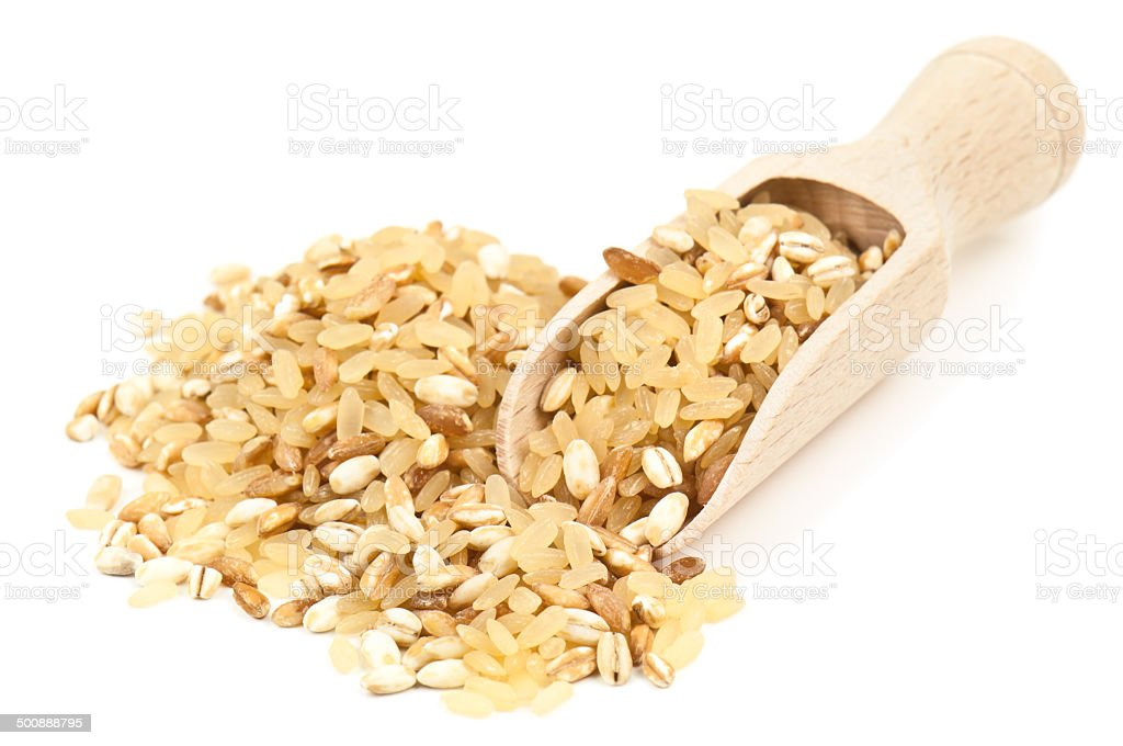 heap of cereal grains stock photo