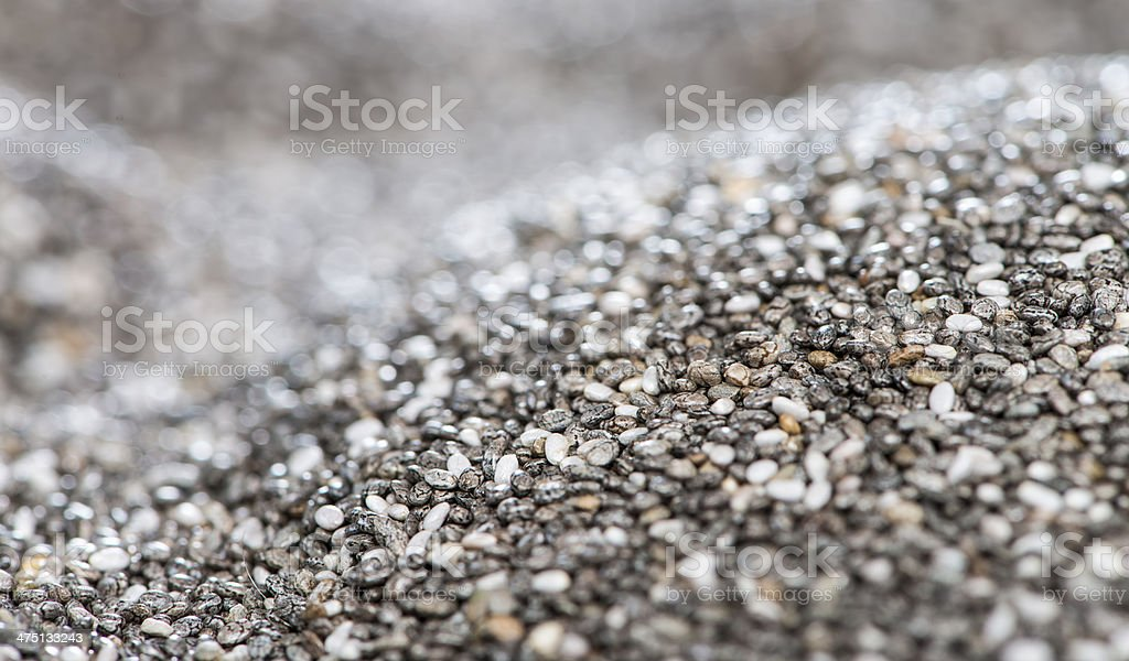 Heap of Chia Seeds royalty-free stock photo