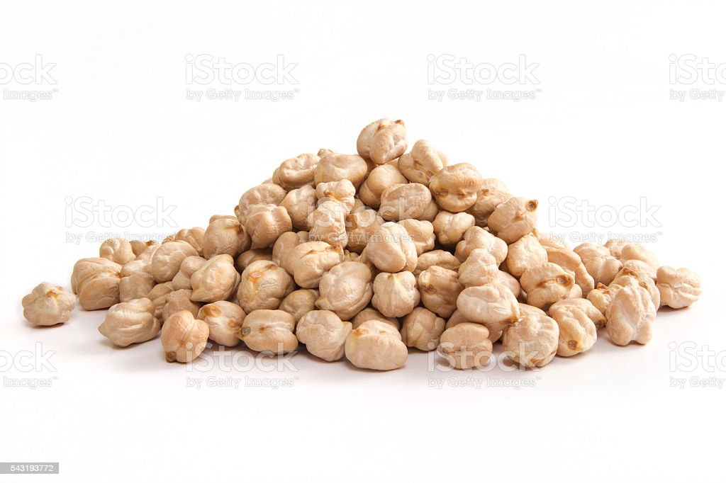 Heap of Chickpeas stock photo