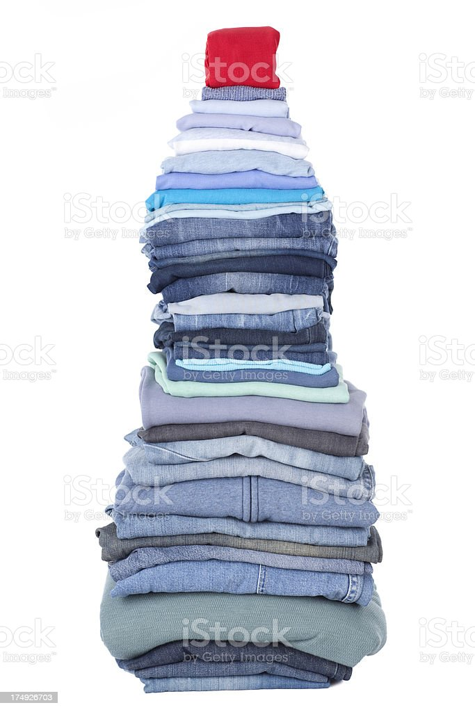 Heap of clothes before laundry. royalty-free stock photo