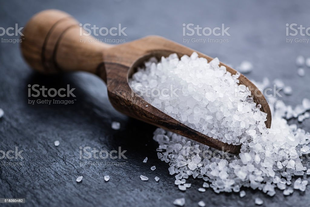 Heap of Coarse Salt stock photo