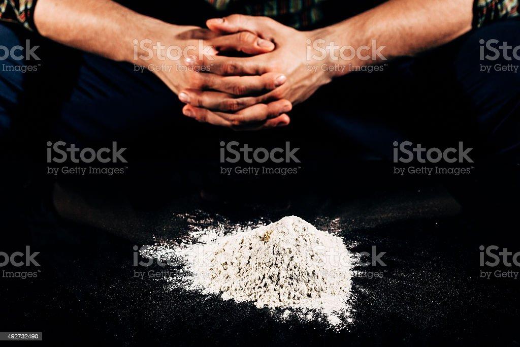 Heap of cocaine stock photo