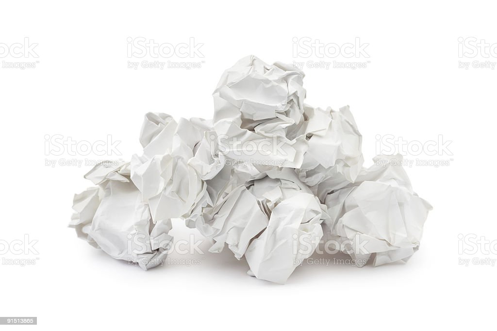 Heap of crumpled paper royalty-free stock photo