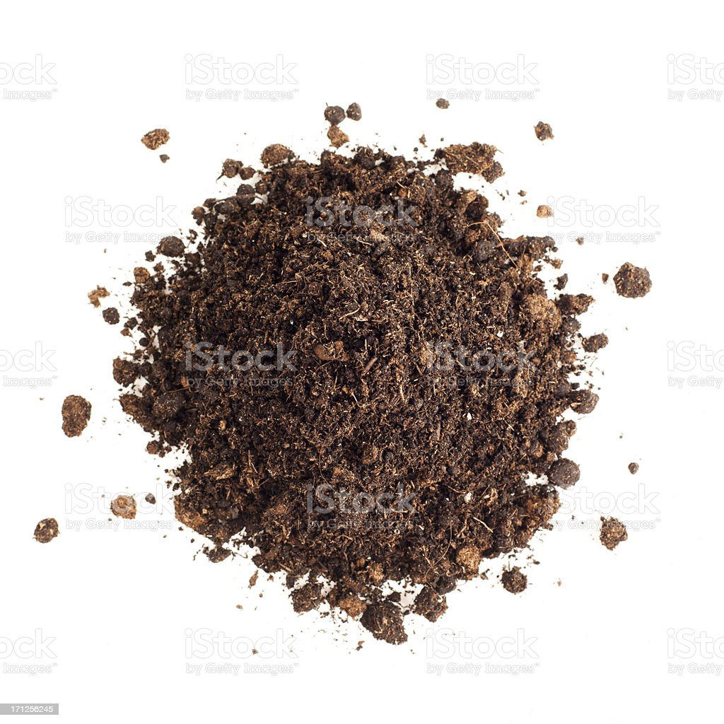 Heap of dirt stock photo
