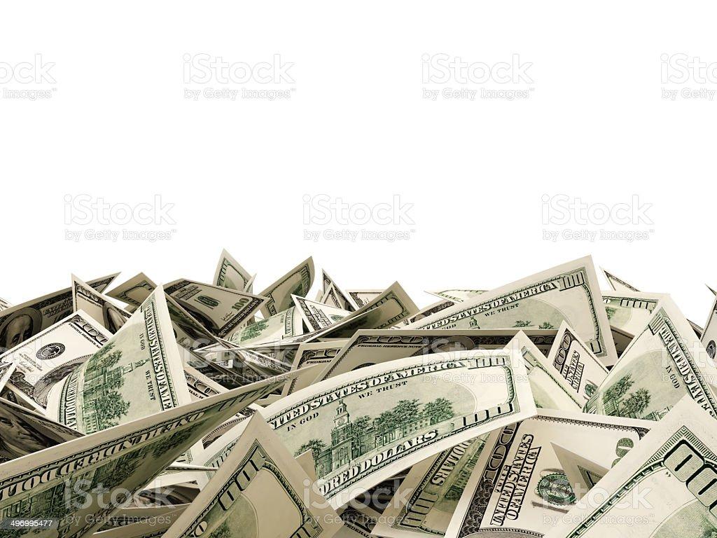 Heap of Dollar Bills stock photo