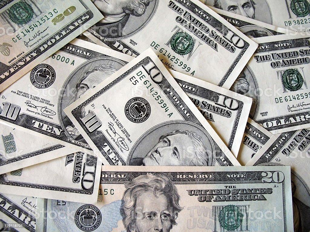 Heap of dollars royalty-free stock photo