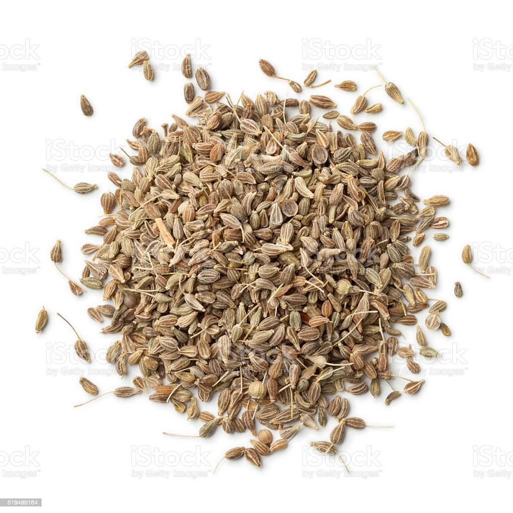 Heap of dried anise seeds stock photo
