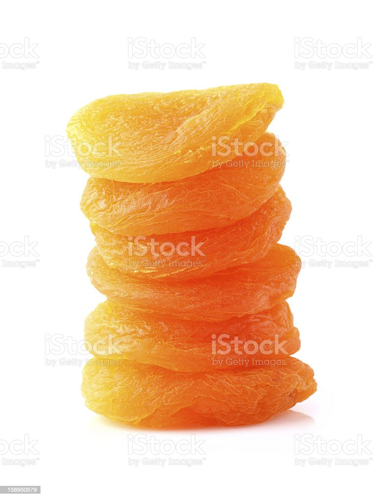 Heap of dried apricot stock photo