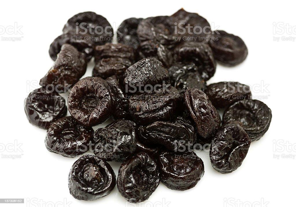 Heap of dried California prunes stock photo