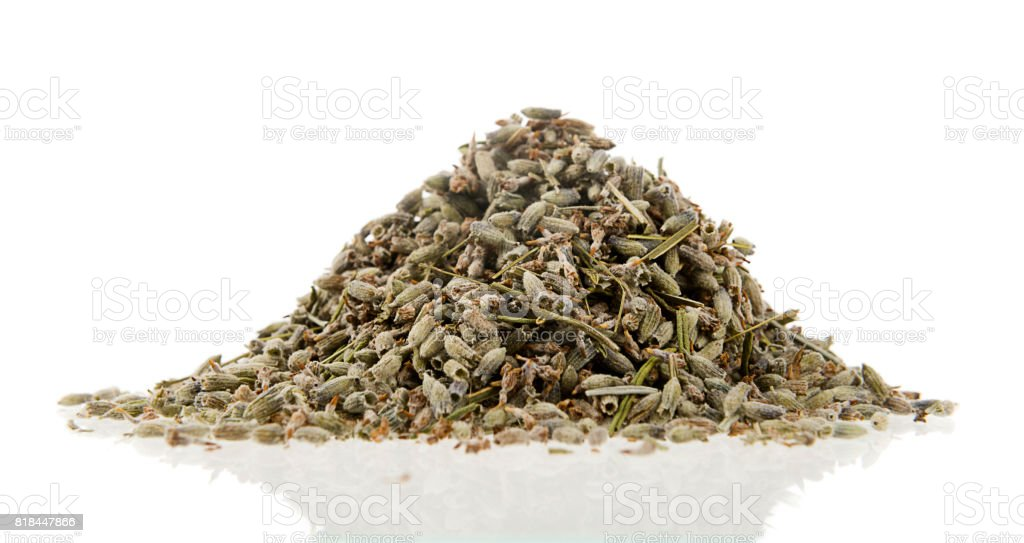 Heap of Dried Lavender stock photo