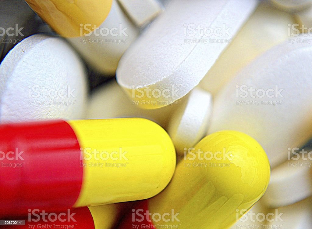 Heap of drugs stock photo