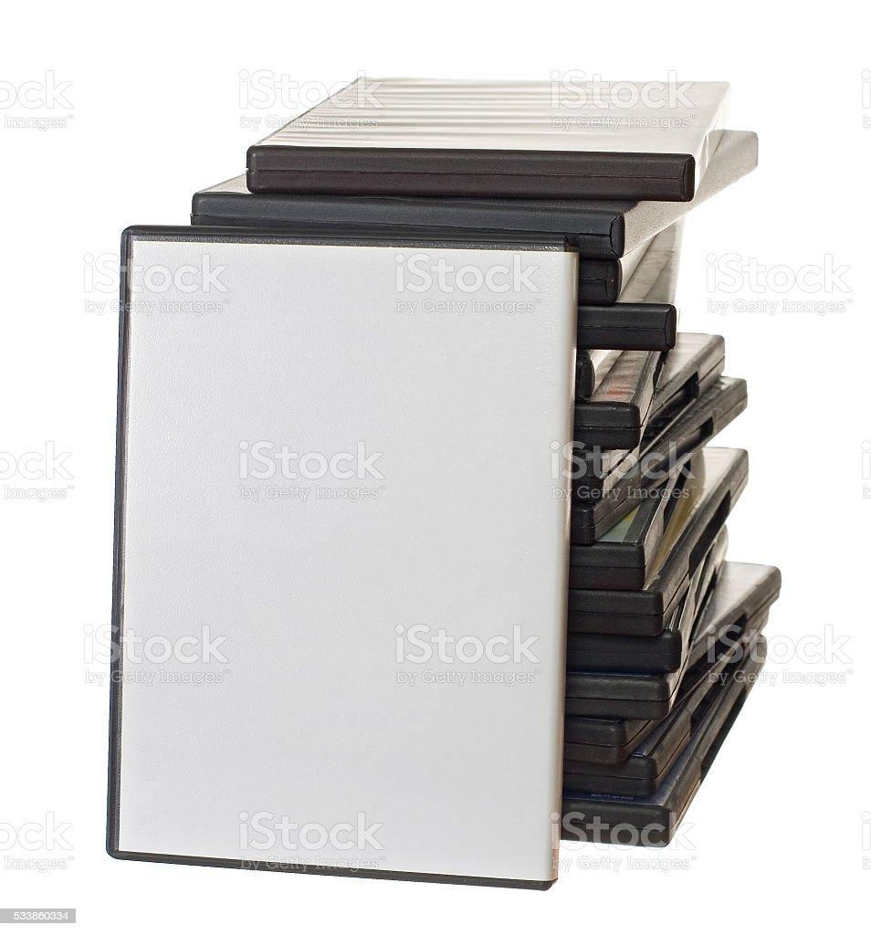 Heap of DVD stock photo