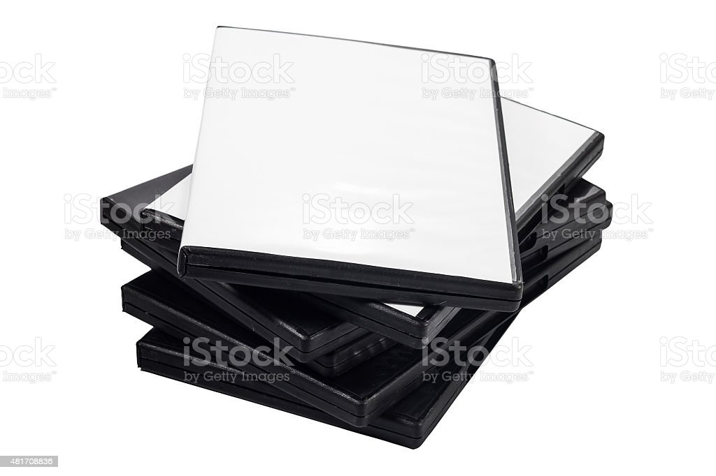 Heap of DVDs isolated on the white background stock photo