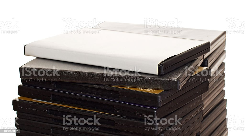 Heap of DVDs stock photo