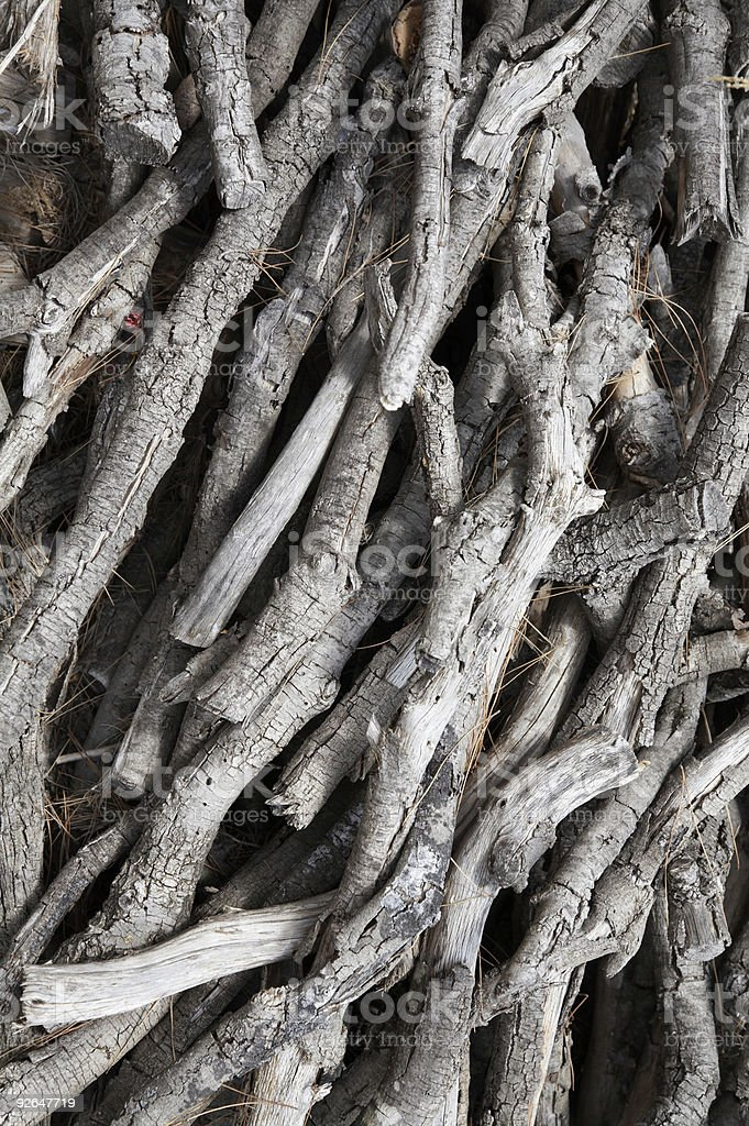 Heap of fire wood royalty-free stock photo
